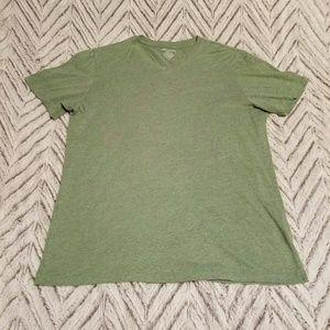 Heathered Green V Neck Tee Shirt